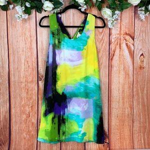 Mercer & Madison Watercolor Beach Shift Dress 1662